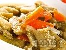 Рецепта Постна картофена яхния със зелен боб и червена леща (без запръжка)